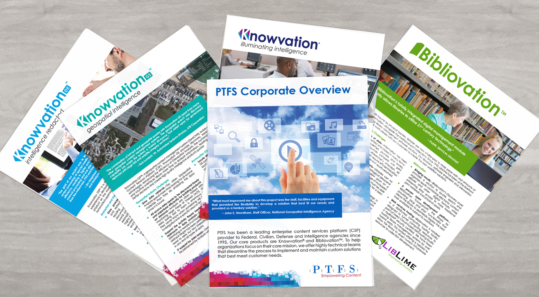 PTFS Marketing Collateral