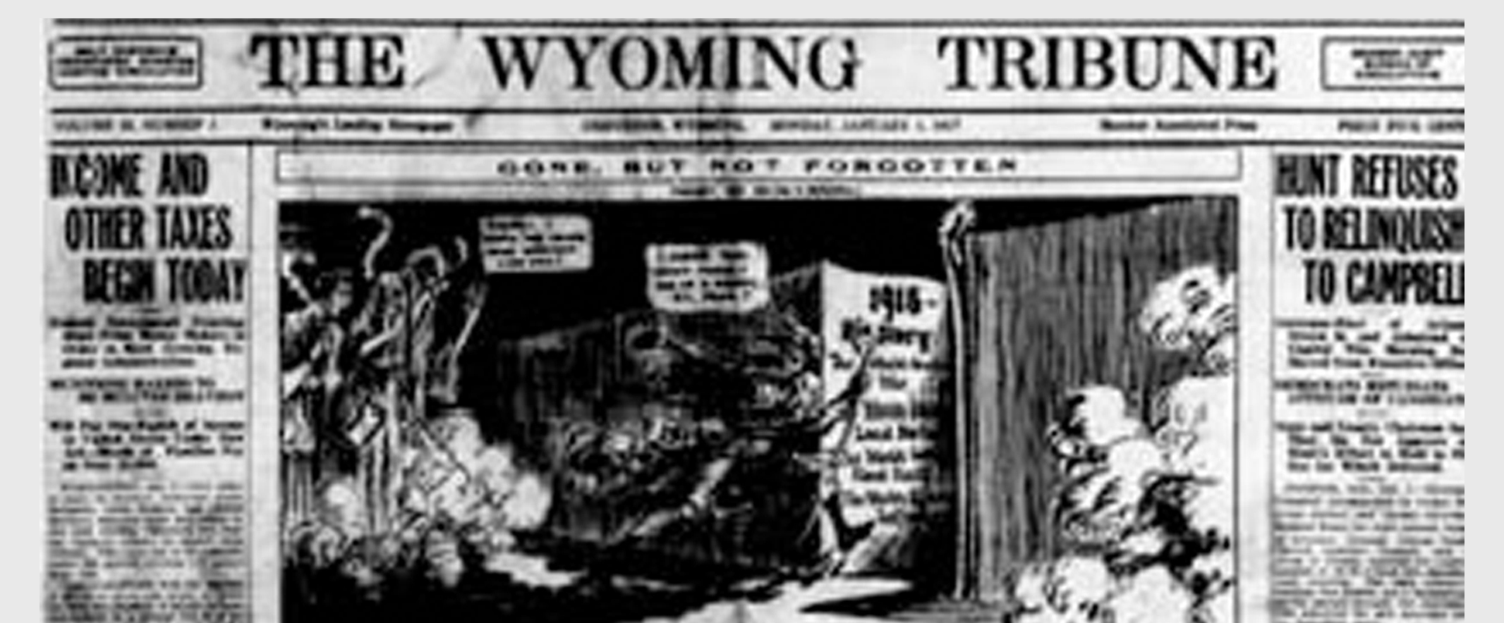 Wyoming State Library, Wyoming Tribune Newspaper Clipping