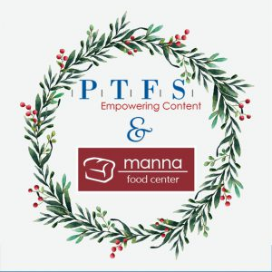 PTFS donated more than $4,000 to Manna Food Center to help families during the holidays.